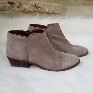 Sam Edelman Petty greyish- tan leather booties